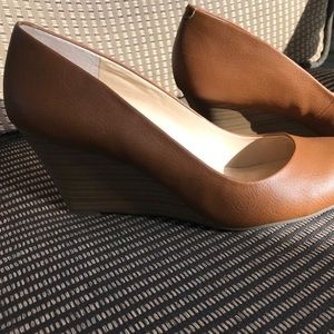 Jessica Simpson Round Toed High Wedge Shoes